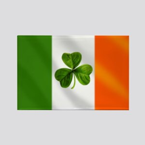 Irish Shamrock Flag Rectangle Magnet