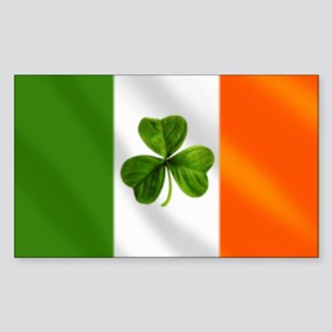 Irish Shamrock Flag Sticker (Rectangle)