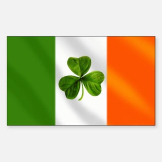 Irish Shamrock Flag Sticker (Rectangle)