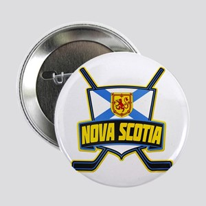 "Nova Scotia Hockey Flag Logo 2.25"" Button"
