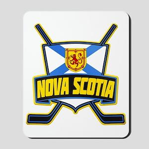 Nova Scotia Hockey Flag Logo Mousepad