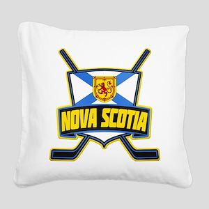 Nova Scotia Hockey Flag Logo Square Canvas Pillow