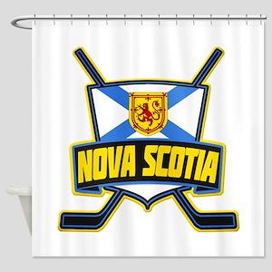 Nova Scotia Hockey Flag Logo Shower Curtain