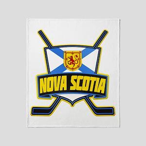 Nova Scotia Hockey Flag Logo Throw Blanket