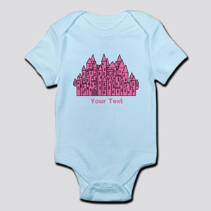 Dark Pink Castle, Custom Text. Body Suit