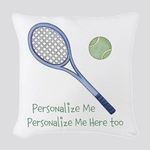 Personalized Tennis Woven Throw Pillow