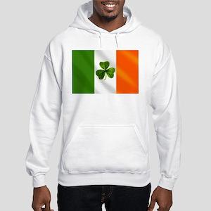 Irish Shamrock Flag Hooded Sweatshirt