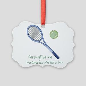 Personalized Tennis Picture Ornament