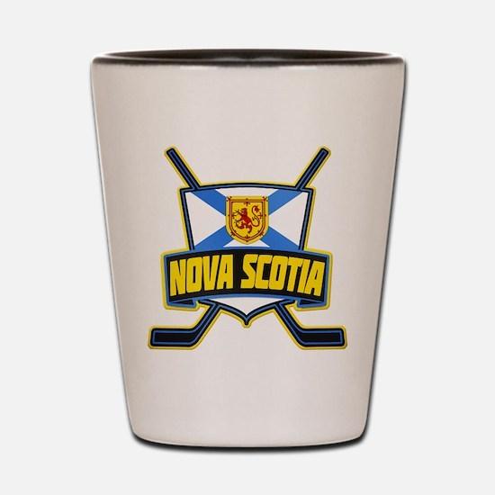 Nova Scotia Hockey Flag Logo Shot Glass