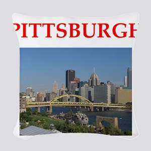 PITTSBURGH Woven Throw Pillow
