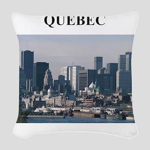 QUEBEC canada gifts Woven Throw Pillow