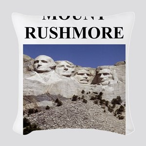 mount rushmore gifts Woven Throw Pillow