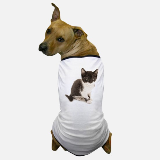 Cute Tuxedo Kitten Dog T-Shirt