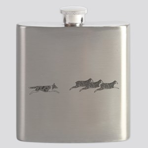 Merle BC on Sheep Flask