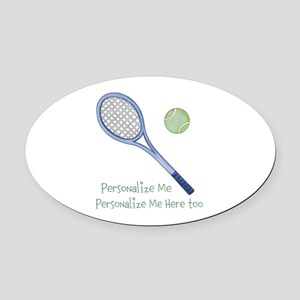 Personalized Tennis Oval Car Magnet