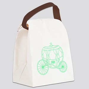 Green Fantasy Carriage. Canvas Lunch Bag