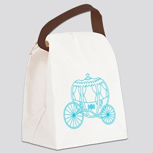 Blue Fantasy Carriage. Canvas Lunch Bag