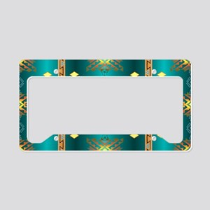 Sun In Winter Blanket Design License Plate Holder