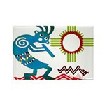 Kokopelli in the Sun Rectangle Magnet (100 pack)