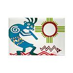Kokopelli in the Sun Rectangle Magnet (10 pack)