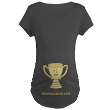 Personalized Trophy Maternity Dark T-Shirt