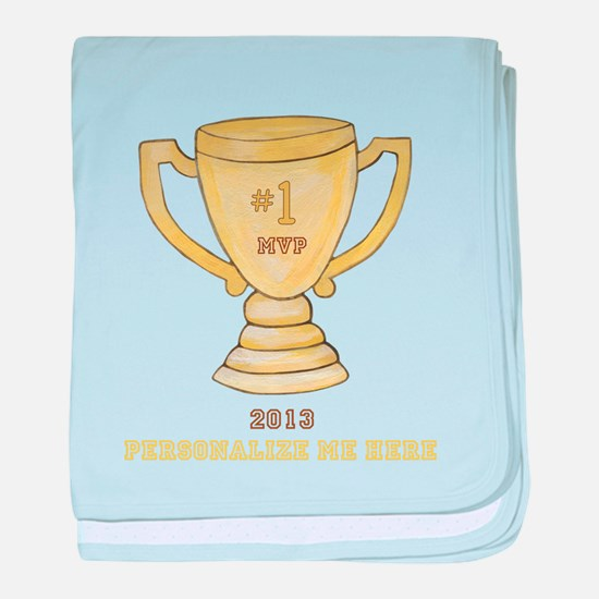 Personalized Trophy baby blanket