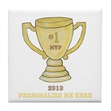 Personalized Trophy Tile Coaster