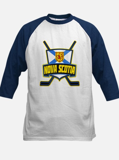 Nova Scotia Hockey Flag Logo Baseball Jersey