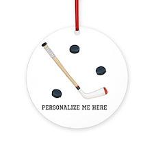 Personalized Hockey Ornament (Round)