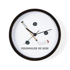 Personalized Hockey Wall Clock