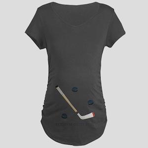 Personalized Hockey Maternity Dark T-Shirt