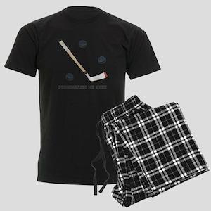 Personalized Hockey Men's Dark Pajamas