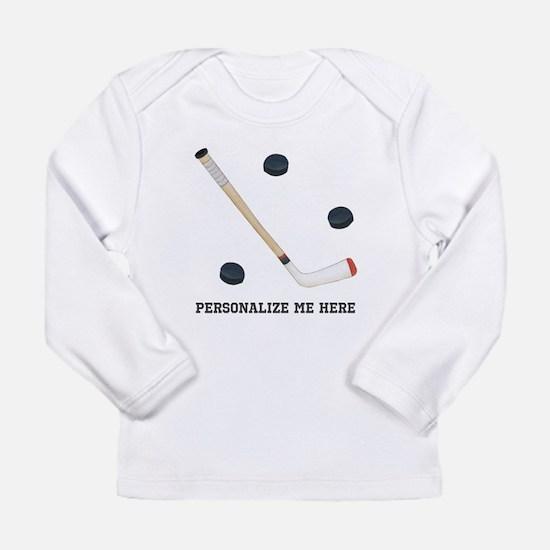Personalized Hockey Long Sleeve Infant T-Shirt