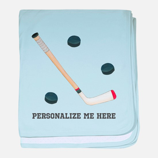 Personalized Hockey baby blanket