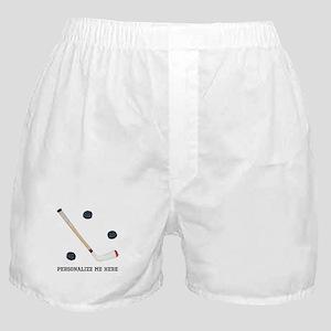 Personalized Hockey Boxer Shorts