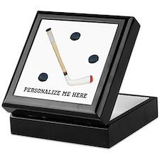 Personalized Hockey Keepsake Box