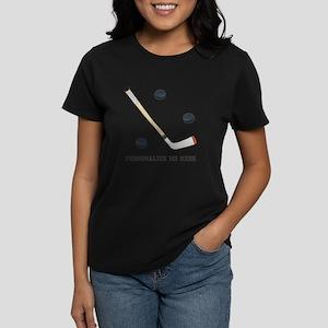 Personalized Hockey Women's Dark T-Shirt