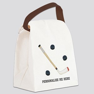 Personalized Hockey Canvas Lunch Bag