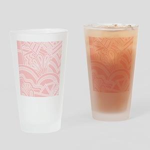 Pink Art Deco Style Pattern. Drinking Glass