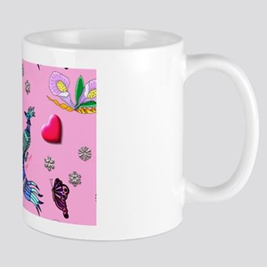 Hearts & Peacocks Mug