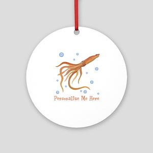 Personalized Squid Ornament (Round)