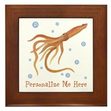 Personalized Squid Framed Tile