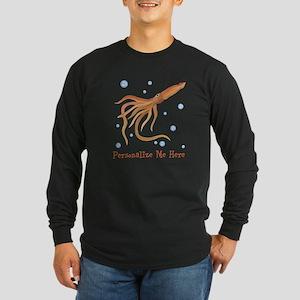 Personalized Squid Long Sleeve Dark T-Shirt