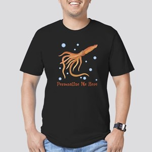 Personalized Squid Men's Fitted T-Shirt (dark)