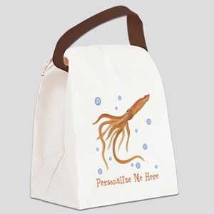Personalized Squid Canvas Lunch Bag