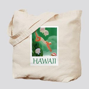 Vintage Hawaii Islands Travel Tote Bag