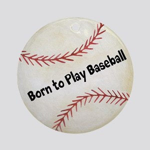 Personalized Baseball Ornament (Round)