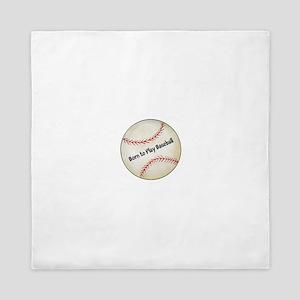 Personalized Baseball Queen Duvet