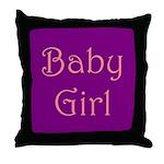 Baby Girl's Room Throw Pillow