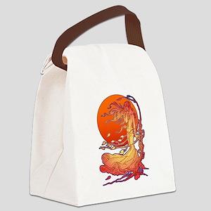 Halloween Wind Canvas Lunch Bag
